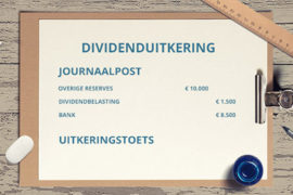 dividenduitkering journaalpost