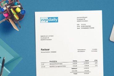 6b5175bcd61478 Factuur voorbeeld excel - ZZP Daily