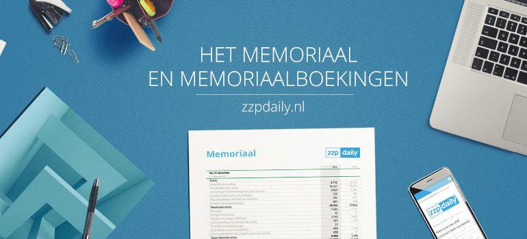 memoriaalboeking in memoriaal
