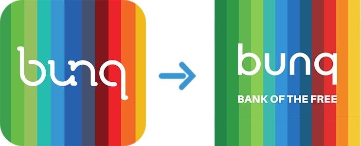 bunq logo wijziging