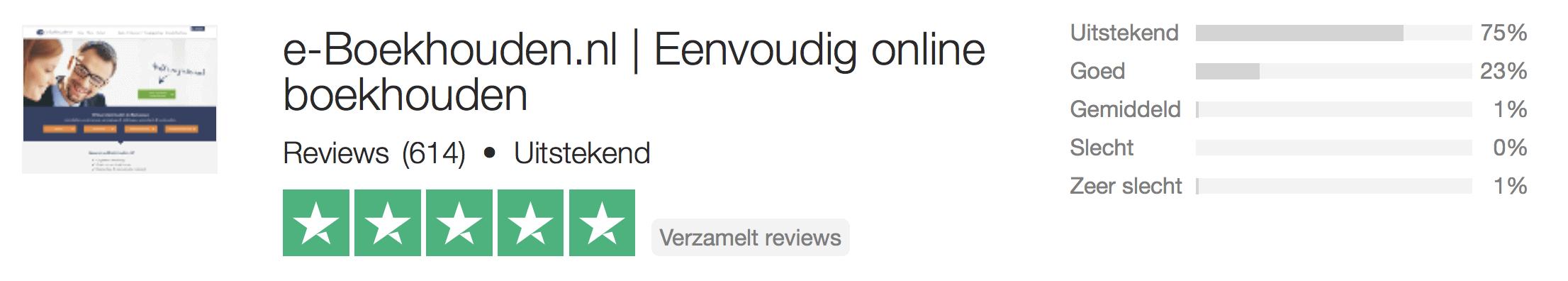 e-Boekhouden-review Trustpilot
