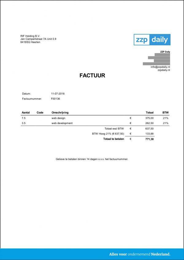 factuur -eboekhouden
