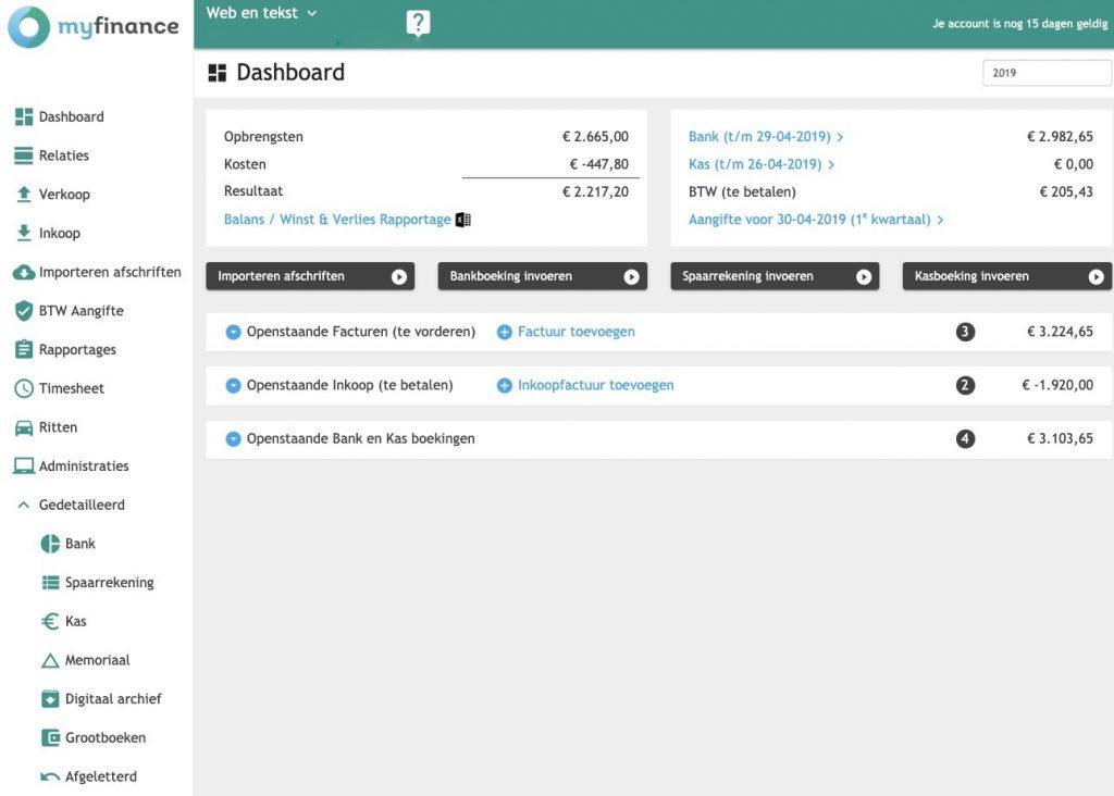 Myfinance dashboard